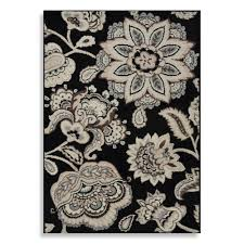 westwood floral accent rug in black bed bath u0026 beyond