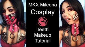 mortal kombat x mileena teeth makeup tutorial for cosplay youtube