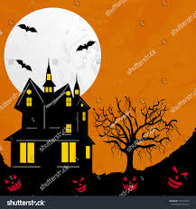 scary halloween night background haunted house stock vector