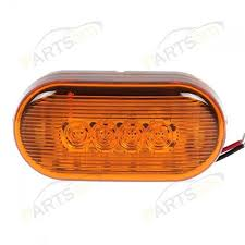 partsam 4 x 2 led yellow clearance light oval marker