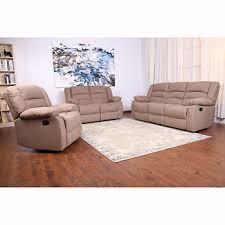 ebello home beekman 3 pc fabric reclining sofa set brown bj u0027s