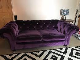 Purple Velvet Chesterfield Sofa Purple Velvet Chesterfield Sofa And Armchair In