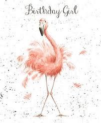 flamingo birthday free printable birthday card greetings