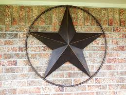 metal star home decor 38 lone star barn metal star with rope ring design