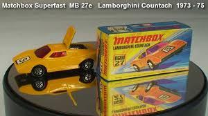 lamborghini countach matchbox superfast mb 27e 1973 75 i box