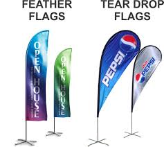 Custom Feather Flags Indoor Outdoor Feather Teardrop Flags Chronos Marketing