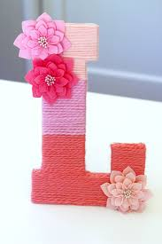 Monogram Letter Yarn Wrapped Ombre Monogrammed Letter Catch My Party