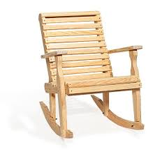Patio Rocker Chair Amish Pine Wood Roll Back Patio Rocking Chair Rocking Chairs