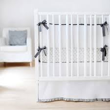White Ruffle Crib Bedding Crib Bedding Set With Gray Ruffle Crib Skirt