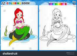 coloring pages mermaids coloring page mermaid colorful sample printable stock vector
