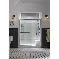 Shower Door Shop Clear Glass Frameless Sliding Bathroom Shower Doors Shop Sterling