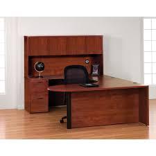 U Shaped Computer Desk With Hutch by Osp Napa Series U Shaped Bullet Radius Desk With Hutch 71