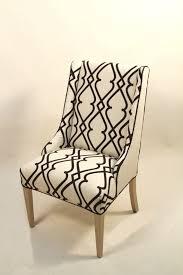 geometric inspired black u0026 cream style linen accent chair