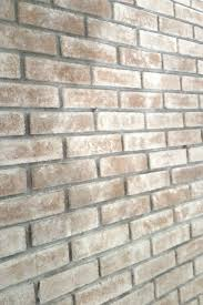 to whitewash brick to give a wall character