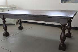 Table Leg Hardware Hand Crafted Custom Thick Turned Leg Farmhouse Table Inspired By