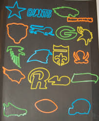 the fleer sticker project nfl logo bandz