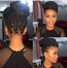 womens hairstyle the box style women pulled back box braids with beads updo hairstyles hair