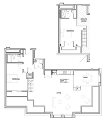 open floor plans with loft fifth avenue lofts floor plans