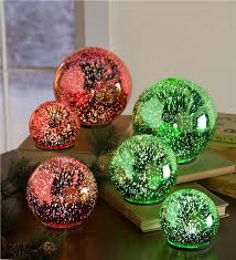 3d lighted glass balls set of 3 lighting