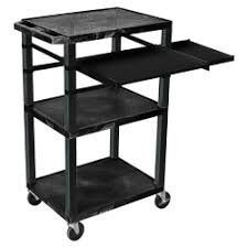 multimedia cart with locking cabinet luxor furniture lmc2 secure multimedia cart with locking cabinet