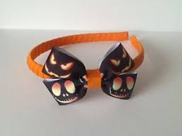 skellington ribbon handmade skellington ribbon hair bow headband