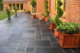 Slate Patio Pavers Blue Black Slate Paving Patio Kit Slate Patio Slate