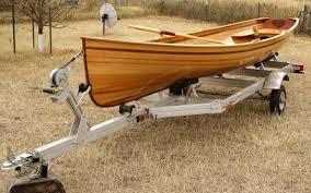 boatworks rangeley guide boat cedar strip 17ft