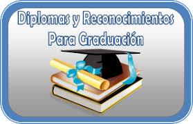 imagenes de reconocimientos escolares diplomas y reconocimientos para graduación material educativo