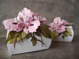 baptism jewelry box pink flower box baby shower wedding small box baptism gift