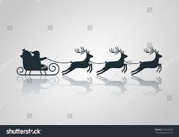 christmas card santa claus sleigh reindeer stock vector 735230005