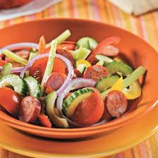 cuisine andalouse salade andalouse au chorizo recettes cuisine et nutrition