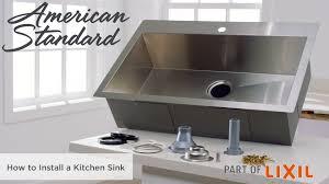 Kitchen Sink Install Pekoe 35x18 Inch Stainless Steel Kitchen Sink American Standard