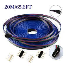 diy led strip light crazy elelc 4pin plug in 20m 65 6ft rgb led strip light extension
