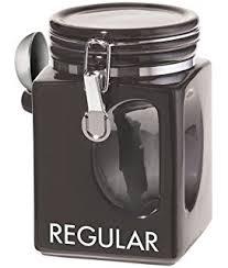 amazon com decaf and regular coffee ceramic canister set black