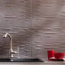 fasade backsplash waves in galvanized steel