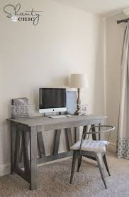 free woodworking plans and tutorial diy truss desk by shanty 2