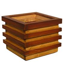 buy brown layered handmade box wooden planter by point of hue