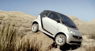 smart fortwo goes off road gets stuck in new ad photos 1 of 2