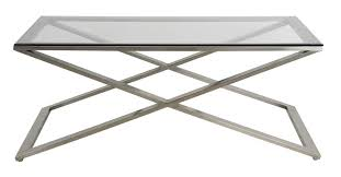 brushed nickel coffee table brushed nickel scissor leg coffee table with bevelled glass