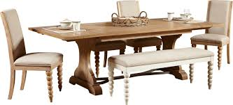 Lark Manor Bleau Trestle Dining Table  Reviews Wayfair - Trestle kitchen table