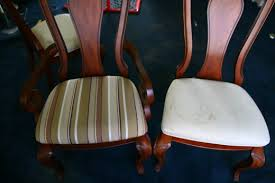 Armchair Upholstery Cost How To Reupholster A Dining Room Chair An Easy Home Improvement