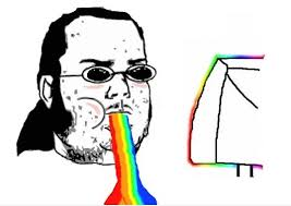 Rainbow Meme - rainbow puke