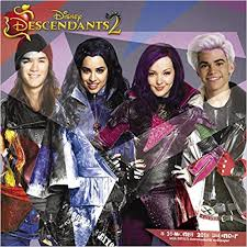this disney descendants 2 wall calendar for 2018 features the