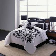 incredible black and white queen size bedding sets within full
