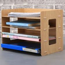 Wood Desk Accessories Fashion Diy Wood Made Desk Organizer Office School Supplies