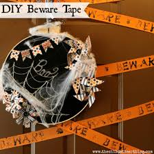 halloween tape diy beware tape halloween dollar tree series child at heart blog