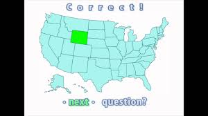 United States Quiz Map by Interactive United States Map Quiz Correct Wyoming Location