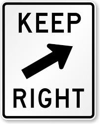 arrow symbol keep right sign r4 7b sku x r4 7b