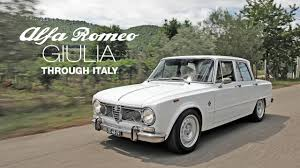 alfa romeo classic 1972 alfa romeo giulia super through italy youtube