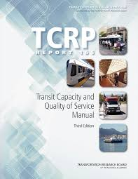report contents transit capacity and quality of service manual